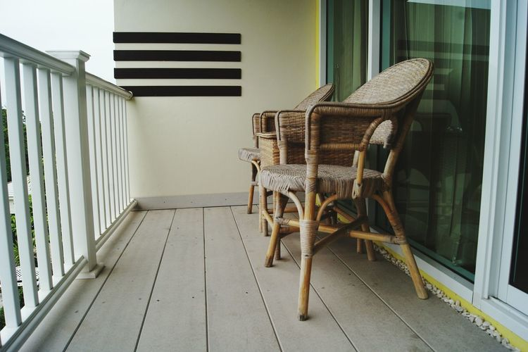 View of an empty chair
