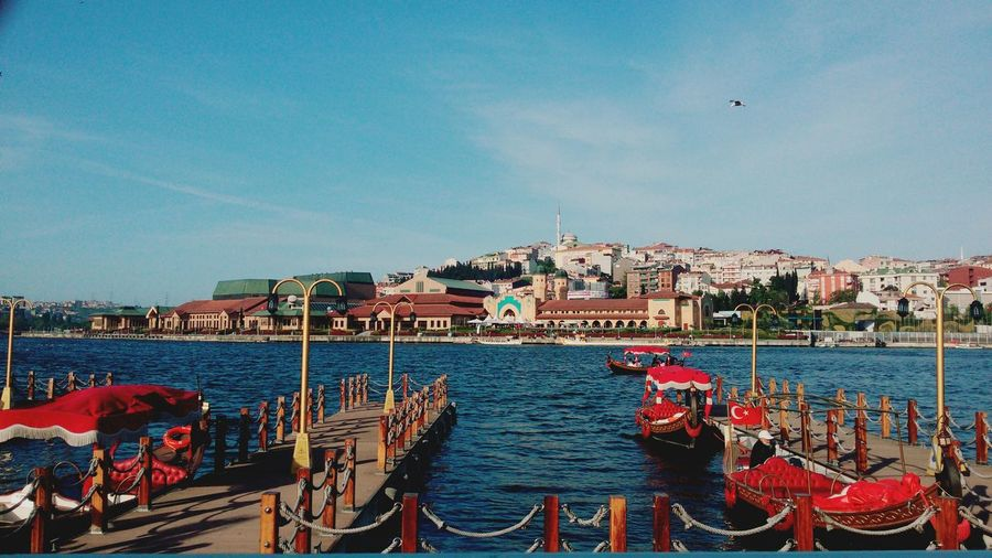 Istanbul Water Sea Day Travel Destinations EyeEmNewHere Istanbul Turkey Eyüp SahilCity Sky No People Outdoors Vacations Traveling Home For The Holidays First Eyeem Photo Iskele Beach Nautical Vessel Harbor Bird Break The Mold