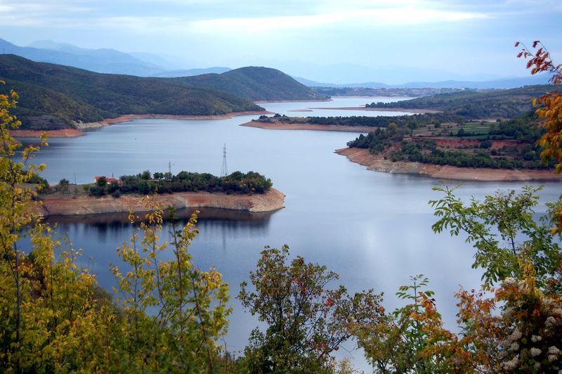 Scenic view of lake in macedonia