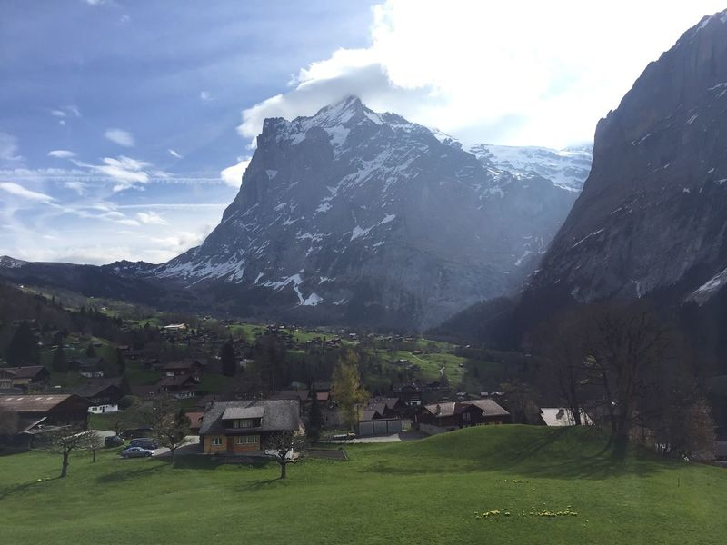 Mountain Landscape Nature Beauty In Nature Sky Scenery Peak Grass No People Snow Outdoors Range Day Grindelwald Switzerland Neighborhood Map The Great Outdoors - 2017 EyeEm Awards