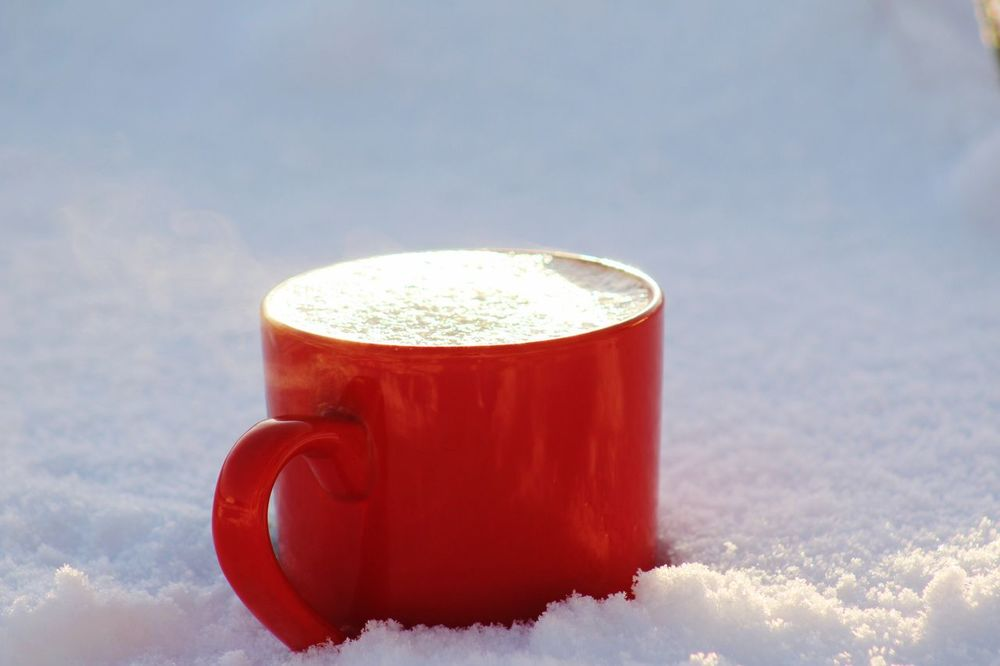 Drink Food And Drink Frothy Drink Cold Temperature Refreshment No People Winter Close-up Snow Nature Day Indoors  Freshness Sky Fairbanks Alaska Coffee Coffeemug Christmastime Christmas Christmas Spirit