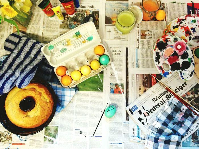 Easter Ready Preparing For Easter Cake Eggs