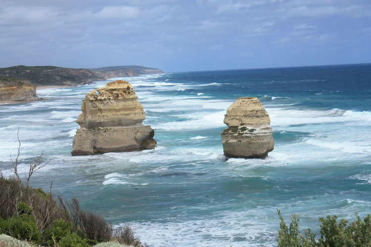 Port Campbell National Park Beach Beauty In Nature Day Horizon Over Water Nature No People Outdoors Rock - Object Rock Formation Sand Scenics Sea Sky Tranquil Scene Tranquility Water Wave