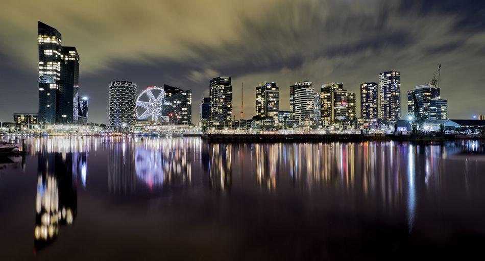 City scape of docklands melbourne australia