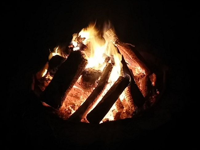 Relaxing Bon Fire Enjoying Life after a long day of yardwork, its time to relax. sometimes watching a fire is so soothing.