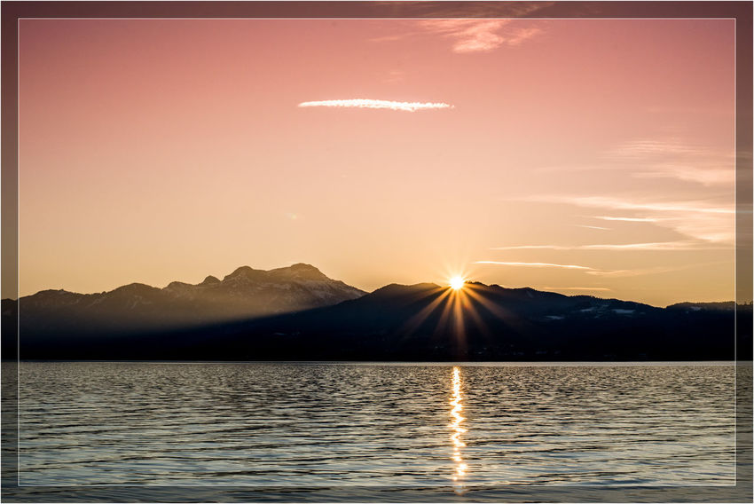Attersee Austria Nature Beauty In Nature Cloud - Sky Graphxart Idyllic Lake Lens Flare Mountain Mountain Range Nature No People Non-urban Scene Outdoors Scenics - Nature Sky Sun Sunbeam Sunlight Sunset Tranquil Scene Tranquility Water Waterfront