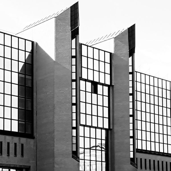 Bastions. Architecture Bastions Building Exterior Built Structure Business District Cityscape Day Downtown District No People Office Block Office Building Exterior Outdoors Reflection On Building Reflections Reflections In The Glass Windows Urban Geometry Windows Reflection The Graphic City The Architect - 2018 EyeEm Awards