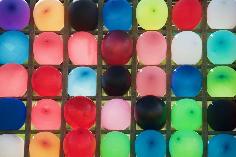 Shooting Shooting Range  Colors Balloons Color Balloons Multi Colored Symmetry Variation Pattern Coloring Abstract Close-up Backgrounds Abstract Backgrounds Full Frame