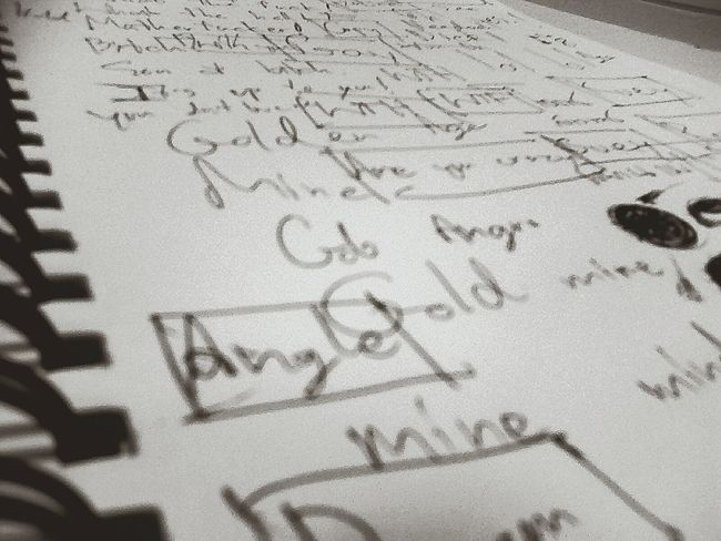 Writting On Paper Black & White Relaxing Continuous Aimlessly Text Blur Notebook