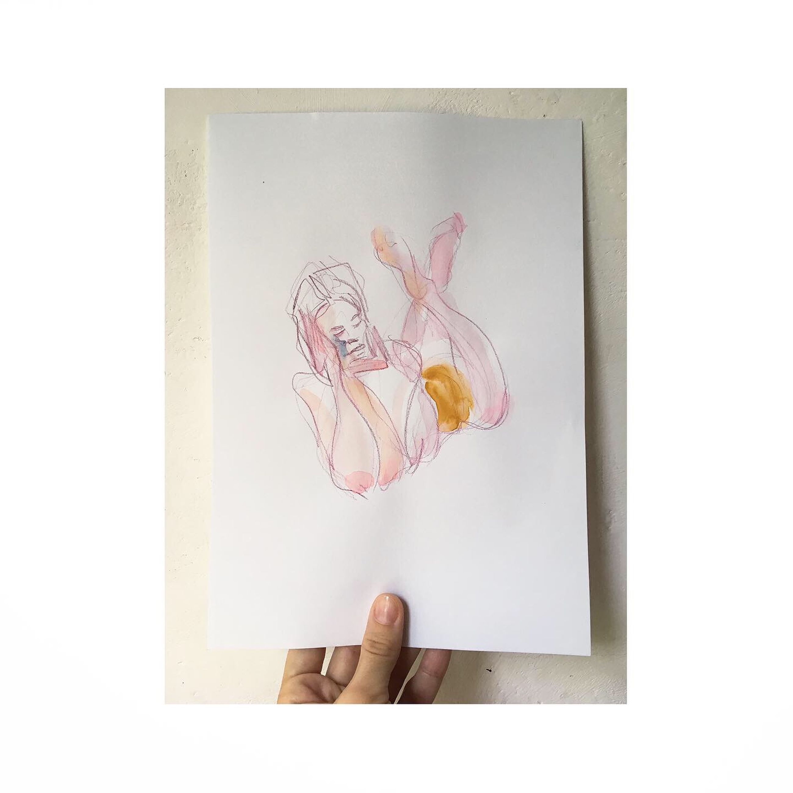indoors, white background, studio shot, creativity, human body part, one person, directly above, human hand, art and craft, drawing - art product, hand, holding, paper, body part, plant, vulnerability, nature, fragility, frame, finger