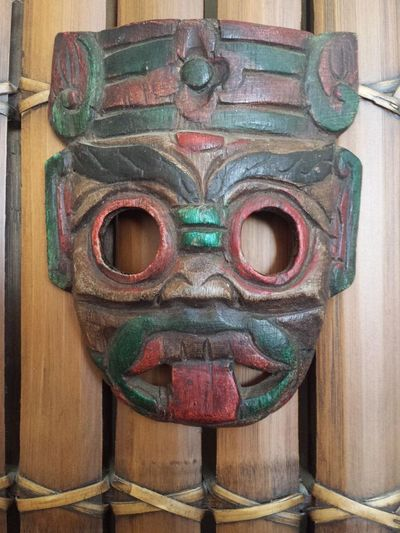 African Art African Mask Masks Tongue Out Hand Carved Island Mask Mask Masks Arts And Crafts Polynesian Polynesian Art Polynesian Diety Primitive Primitive Art Primitive Designs Primitive Mask Tongue Wooden Mask