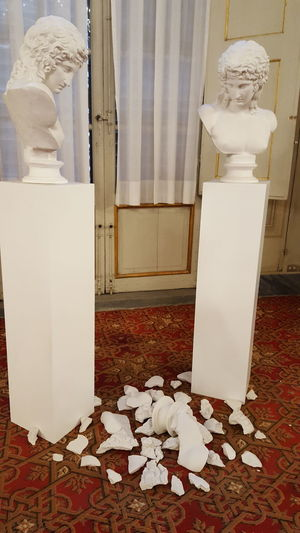 Oh My God! Palazzo Pitti White Color No People Indoors  Museum Statue Sculpture Modern Art!!! Expressive Sculpture Travel Destinations Indoors  Italia Italy Florence Firenze Catherine2017 Rethink Things Visual Creativity Adventures In The City