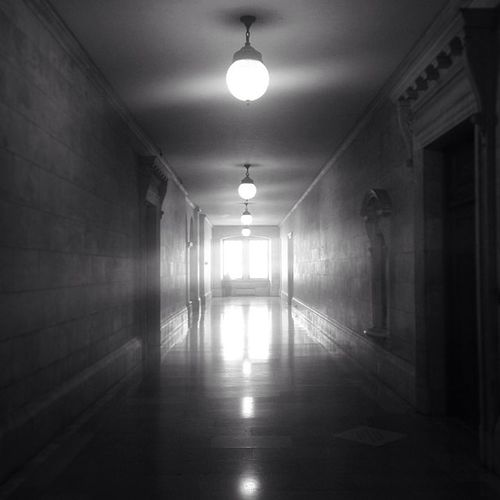 Eerie Hall Hallway Architecture NYC Newyork Sun Newyorkstate Old Newyorkcentrallibrary Light Errie Blackandwhite Glass Library Stone Empty NY Brick