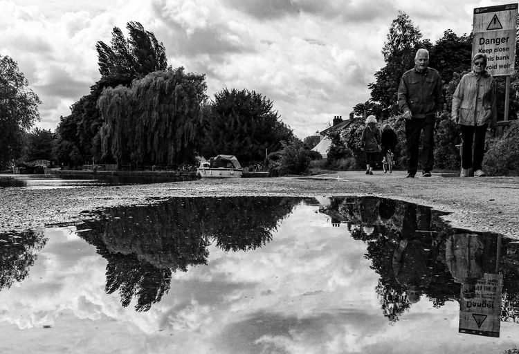 EyeEm Selects Water Sky Cloud - Sky Tree Reflection Plant Lake Nature Waterfront Tranquility Day No People Symmetry Standing Water Outdoors Beauty In Nature Architecture Puddle Scenics - Nature Reflecting Pool