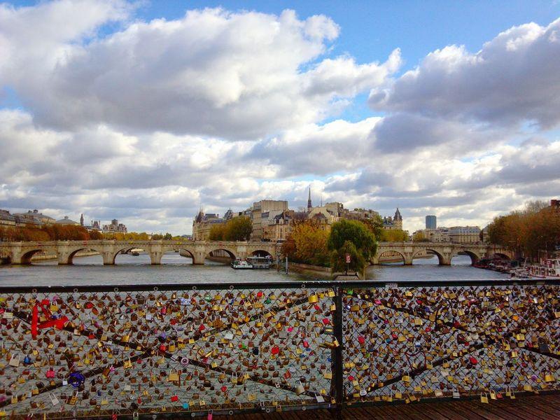 Parisfrance Parisbridge Lovelockbridge Lovelocks