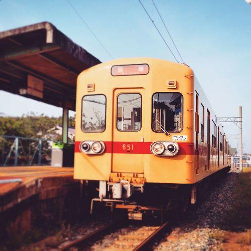 あいのしま EyeEmNewHere Transportation Public Transportation Railroad Track Train - Vehicle Mode Of Transport Travel Rail Transportation