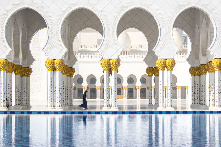 Grand Mosque Abu Dhabi Adult Architectural Column Day Indoors  Mosque One Person People The Photojournalist - 2017 EyeEm Awards Woman The Architect - 2017 EyeEm Awards Adventures In The City The Traveler - 2018 EyeEm Awards 10