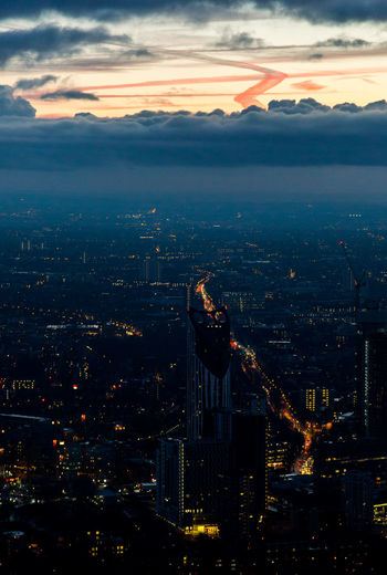 'View from the Shard' Architecture Beauty In Nature Building Exterior Business Finance And Industry City Cityscape Cloud - Sky Dramatic Sky Highway Illuminated Nature Night No People Outdoors Scenics Sky Skyscraper Skyways Social Issues Sunset Urban Skyline Water Capture Tomorrow