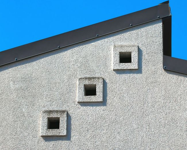 Creative Light And Shadow Urban Geometry Windows Square in Calabria (Italy) Deceptively Simple