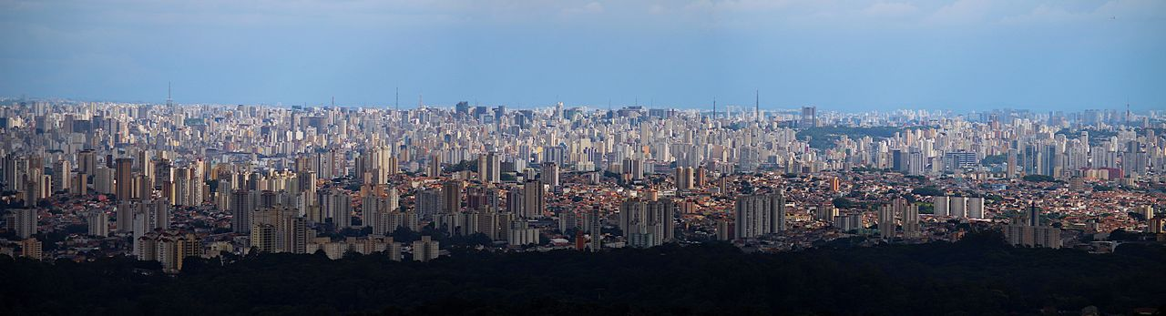 Panoramic shot of city buildings against sky
