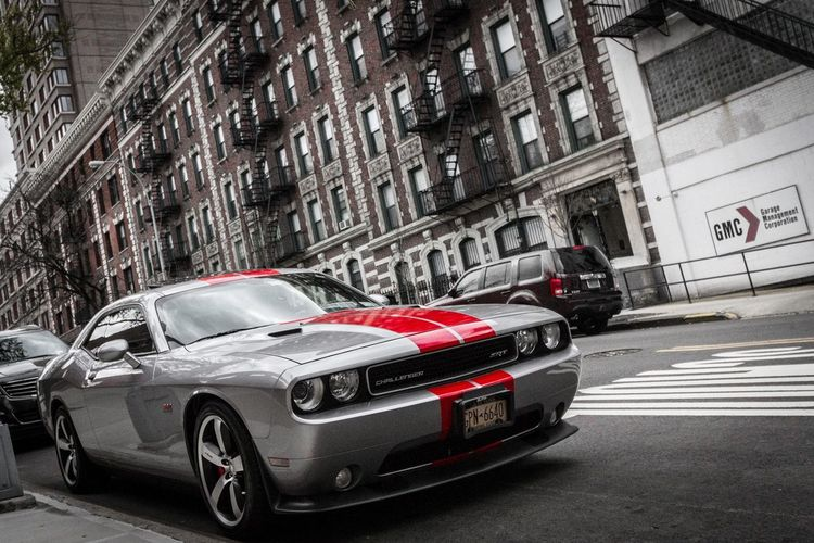 Brooklyn Brooklyn Bridge / New York Car Fastcar Dodge Dodge Challenger Blackandwhite Mutedcolors Muted Colors Red Streetphotography Cool Cool Car Photooftheday Urban New York New York City