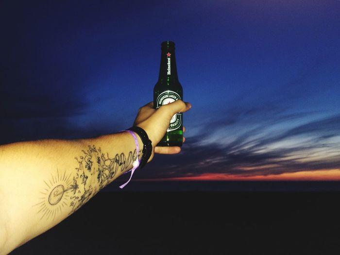 Bière Sunset Beach Beautiful