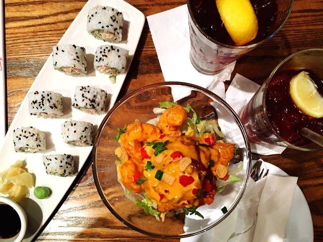 I want more!!😍 Sushi Food Foodie Foodporn Shrimps Dynamite Yummy Taking Photos Enjoying Life Favorites