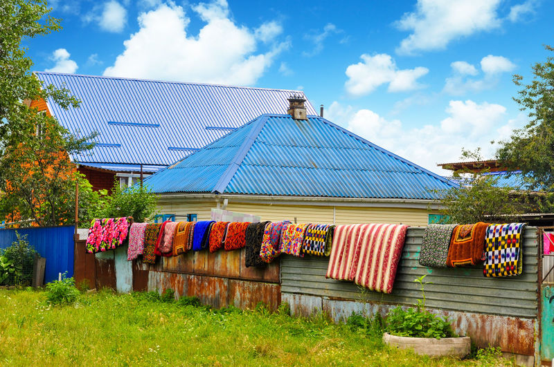 Rural life Cloud - Sky Outdoors Multi Colored Architecture Rural Scene Rural Scenes Rural Life Rural_living House Household Drying Dry Rural Village Life Village View Village House Village Home Colorful Colour Of Life Colors