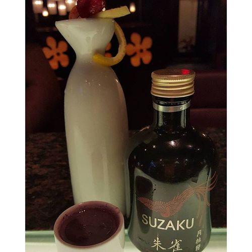 Tigerclaw Suzaku  Sake Gingo infused with fresh ginger shaken with blueberry pomegranate citrus bestbarkeep amazing