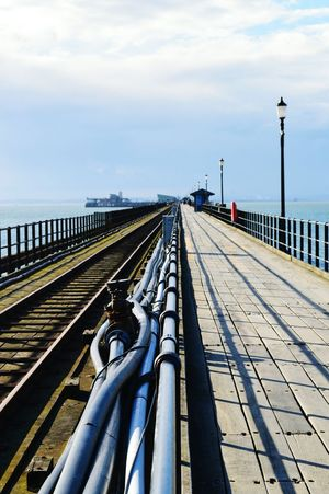 Transportation Outdoors Pier Path Railway Tracks No People Southend On Sea Manmade Structure