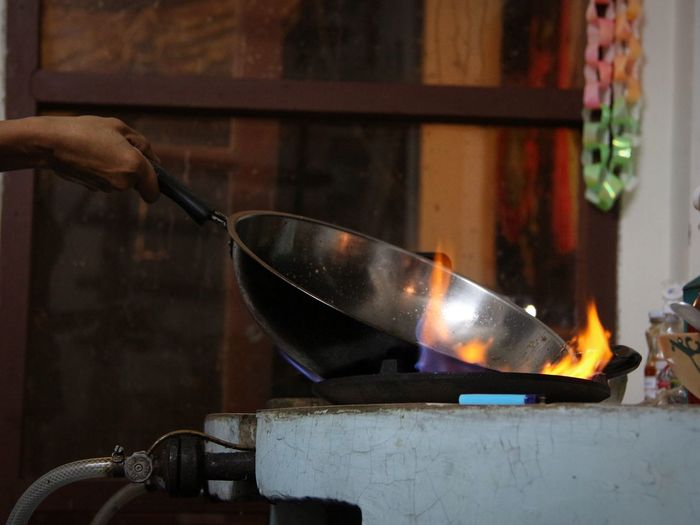 Cooking Like A Locals Local Food Fride Wok Fire Thai Food Thai Style in North Thailand South East Asia Documentary