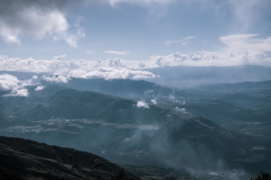 The view from the Refuge. Nature Outdoors Travel Destinations Explore Discover  Adventure Tungurahua Hiking South America Latin America Remote Non-urban Scene Mountain Peak Land Landscape Idyllic Mountain Range Environment Day No People Tranquil Scene Cloud - Sky Tranquility Sky Scenics - Nature
