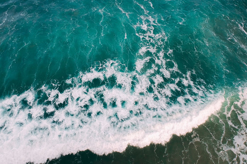 Sea Water Wave Sport Motion Surfing Aquatic Sport Nature Beauty In Nature Day High Angle View Land Outdoors Waterfront Beach Close-up Rushing Scenics - Nature Power In Nature Turquoise Colored Flowing Water