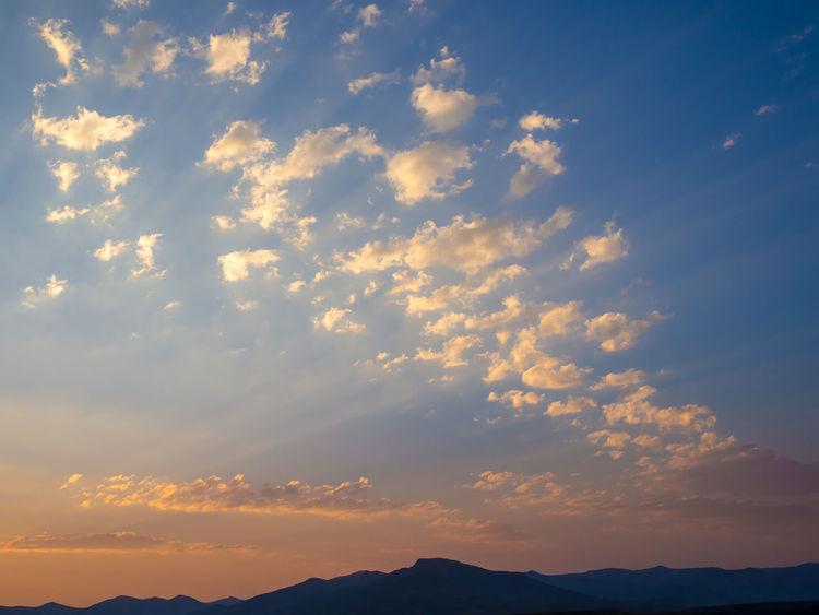 Sky Sunset Light Sunlight Beautiful Clouds
