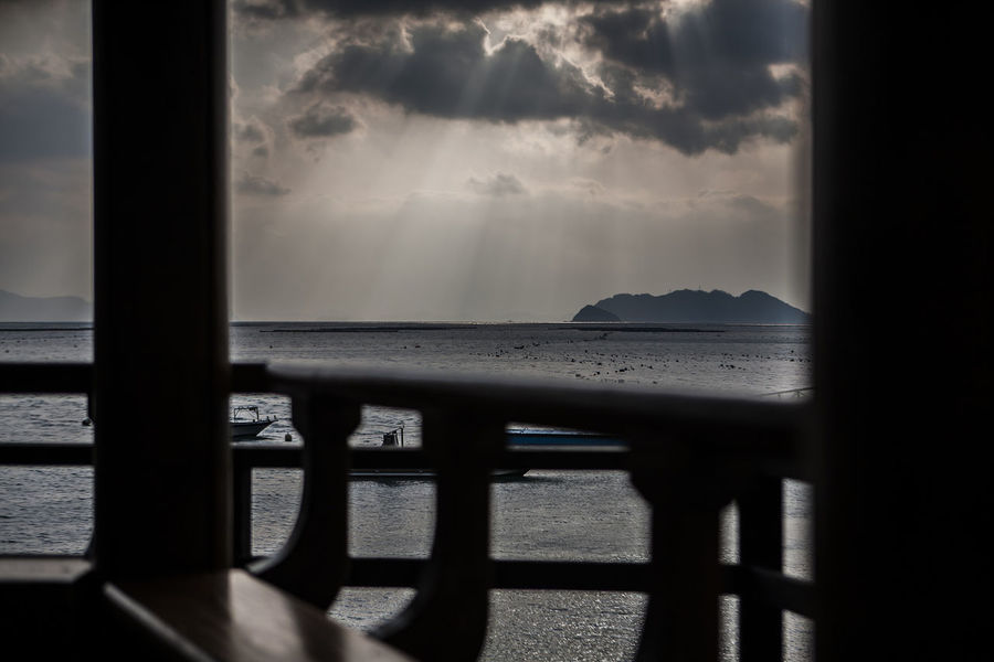 Wando Cheonghaepogu Korea Sun Beam From Cloud black and white Sea Black & White Photo In Frame Island