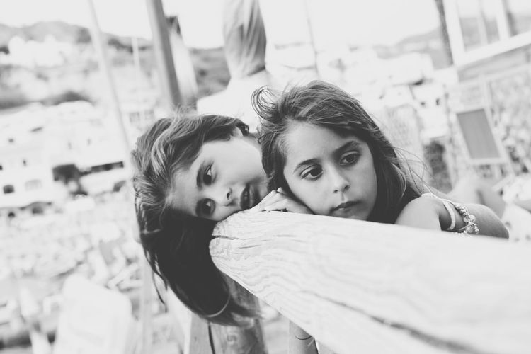 Girls Two People Child Togetherness Sibling Females Beautiful People Portrait Family Childhood Friendship People Outdoors Bonding Human Body Part Real People Cheerful Close-up Day Adult