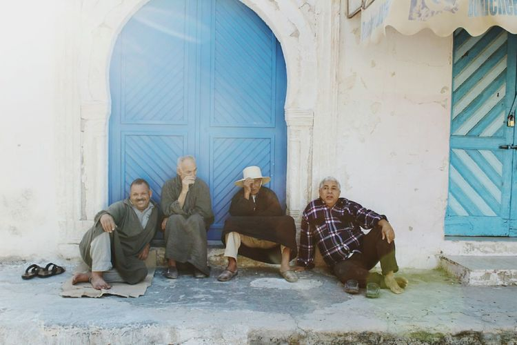 Senior Men Sitting Togetherness Adult Men Djerbahood Tunesia Meeting People  Africa AfricanStyle Africa AFRICAN CULTURE EyeEm Selects Streetphotography Man Sitting On Steps People Photography Old Man Man Photography Culture And Tradition Culture Daily Life Sympathy Senior Adult