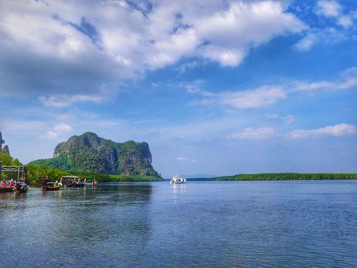 Beautiful tropical landscape at Andaman sea Trang province Thailand Water Sea Sky Cloud - Sky