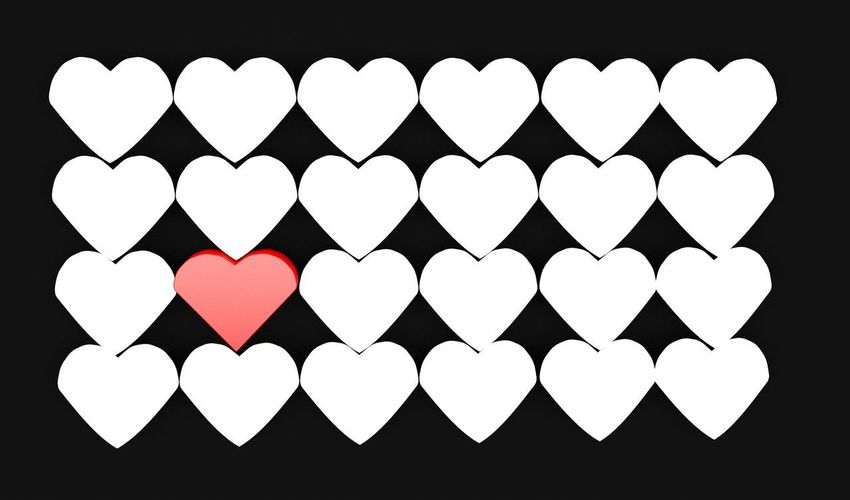 Black Background Close-up Heart Shape Indoors  Large Group Of Objects Love No People Studio Shot
