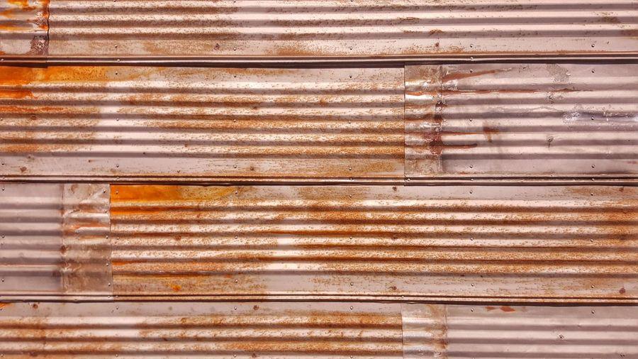Full frame shot of rusty shutter