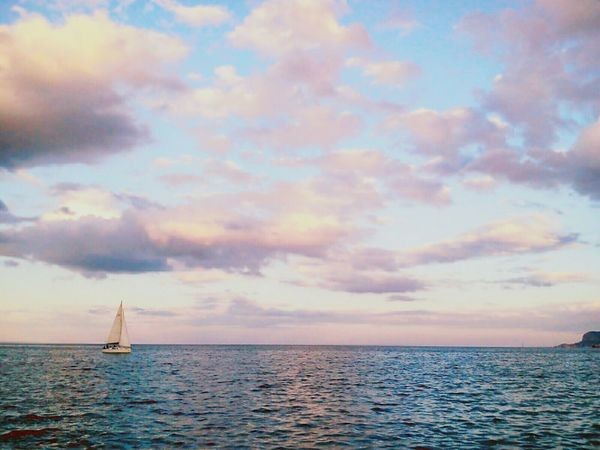 ⛵ Sea Water Water Reflections Waves Sky Sky And Clouds Sunset Nature Mountains Fine Art EyeEm Nature Lover From My Point Of View Colorful Blue Taking Photos Reflections Hello World Seascape Summer Fine Art Photography One The Way