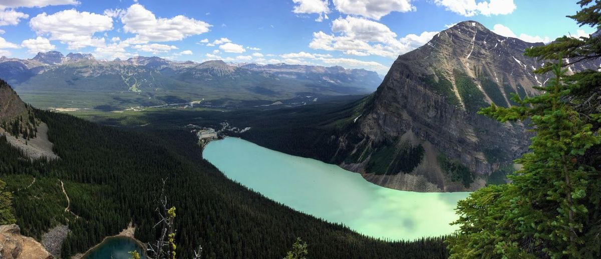 Lake Louise, Lakeview trail, Plain of six glaciers, Lake Agnes, Mirror Lake, Little and Big Beehive, Banff National Park, Canada, Alberta Banff National Park  Camping Hiking Lake Agnes Lake Louise,Alberta Lakeview Trail Panorama Plain Of Six Glaciers Rockies USA UNESCO World Heritage Site Vista Beauty In Nature Beehive Boardwalk Mirror Lake Mountain Nature No People Rocky Mountains Scenics - Nature