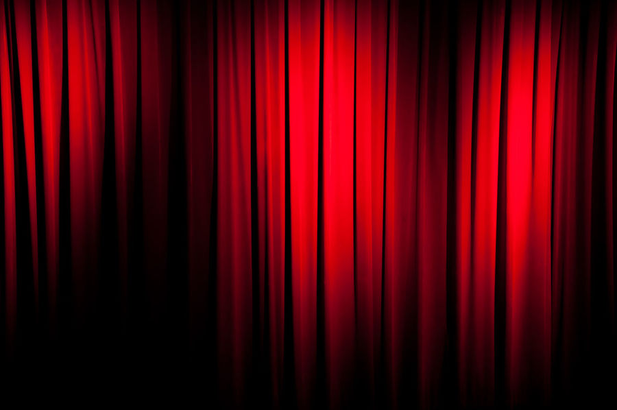 Arts Culture And Entertainment Backgrounds Classical Style Curtain Elégance Event Fame Film Industry Folded Hanging MOVIE Movie Theater Musical Theater  Nightlife Opéra Performance Performing Arts Event Red Spot Lit Spotlight Stage - Performance Space Stage Theater Textile Theatrical Performance Vibrant Color