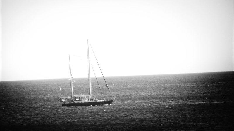 Alone in the water.. Boats Watching Boats EyeEM Beach Photography Eyeem Beach Shots