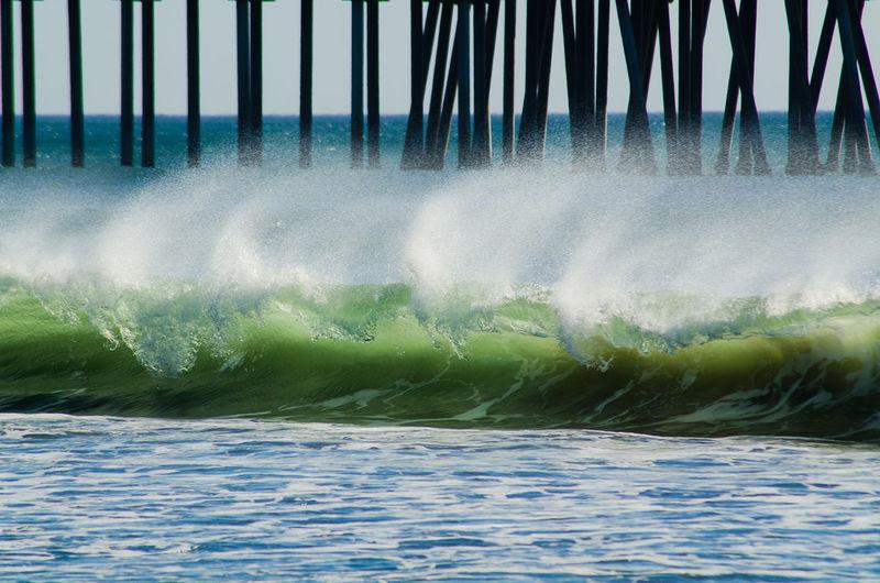 Spray Spray Waves Crashing Waves  Green Room Tube Minimalism Water Motion Wave Sea Beach Close-up Surf Crashing Spraying Power In Nature California Dreamin