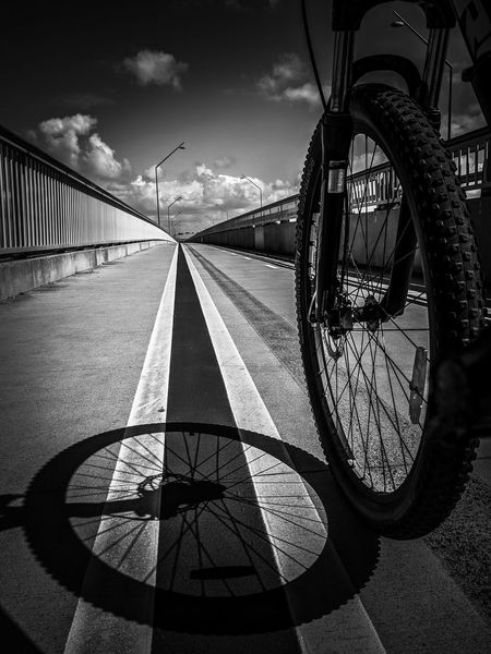 My way 2 // Riding with my shadow Black & White Perspective Road Sky And Clouds Transportation Wheel Activity Bicycle Bike Black And White Black And White Photography Blackandwhite Blackandwhite Photography Cycling Diminishing Perspective Mode Of Transport Myway No People On The Road Ontheroad Outdoor Photography Outdoors Road Marking Shadow Sky