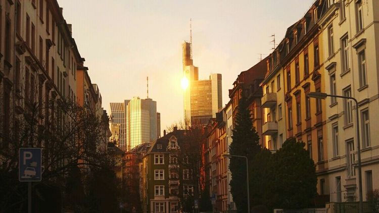 Frankfurt Am Main Mainhattan Old And New Architecture Bankfurt Urban Landscape Urban Architecture Skyscrapers Last Sunrays On Mainhattan Before Sunset Sunreflections Street View Street Photography The Great Outdoors With Adobe 43 Golden Moments TakeoverContrast