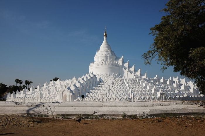 Mya Thein Tan Pagoda (built 1816 and rebuilt after an earthquake 1874) Architecture Blue Sky Buddhism Culture Buddhist Architecture Buddhist Pagoda Buddhist Temple Building Exterior Built Structure Composition Famous Place History Mingun Myanmar No People Outdoor Photography Place Of Pilgrimage Place Of Prayer Place Of Worship Religion Spirituality Sunlight And Shadows The Architect - 2017 EyeEm Awards White Colour White Pagoda