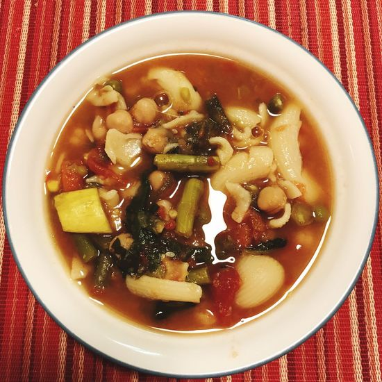 Fresh minestrone night Food Bowl No People Healthy Eating Soup Zuppa Minestrone Italian Food Good Eats Home Cooked