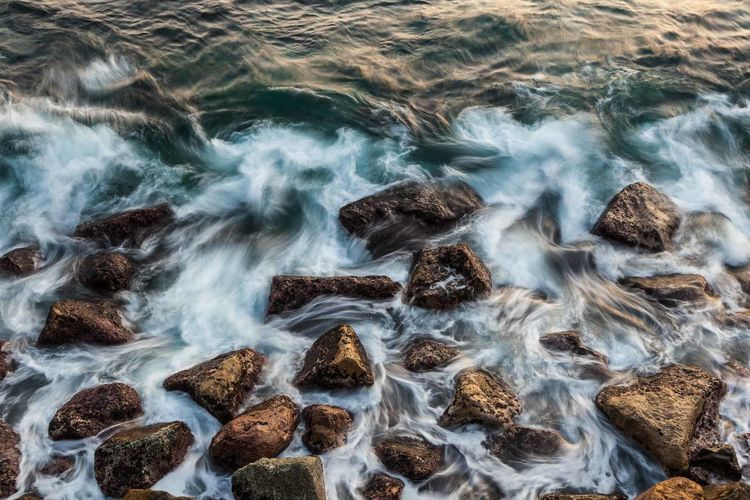 Beauty In Nature Blurred Motion Cinque Terre Day Italy Liguriansea Long Exposure Motion Nature No People Outdoors Pebble Beach Scenics Sea Water Wave